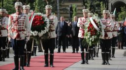 Политици почетоха Деня на Европа и Деня на победата (снимки)