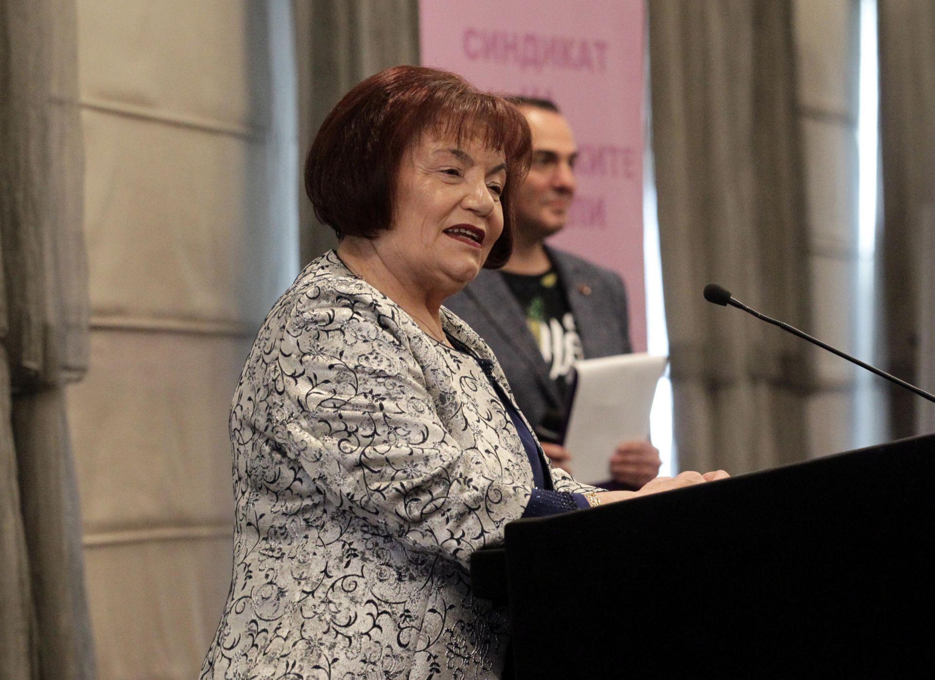 Лидерът на СБУ Янка Такева на церемонията