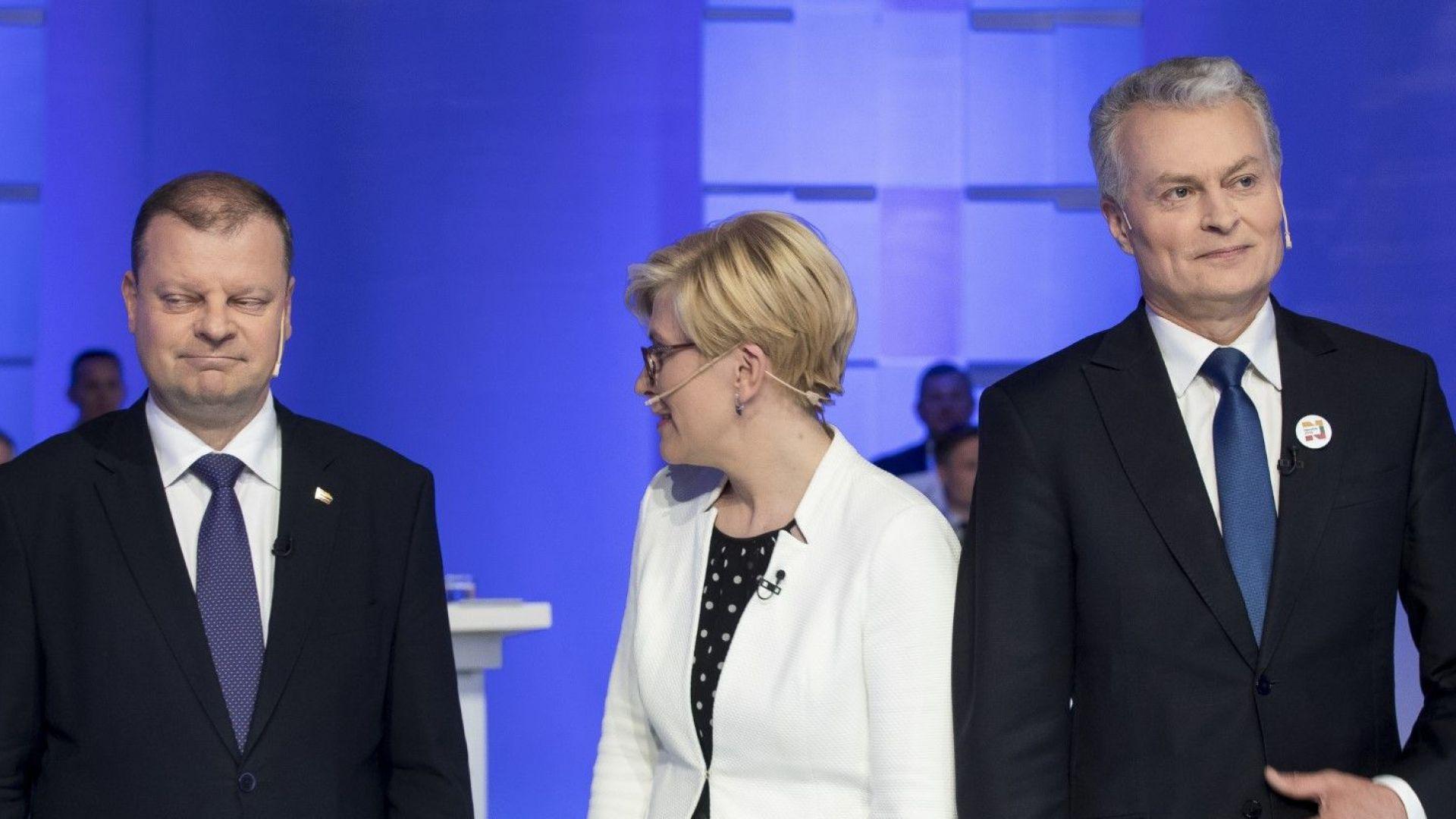 В Литва гласуват за нов президент: трима имат реални шансове за победа