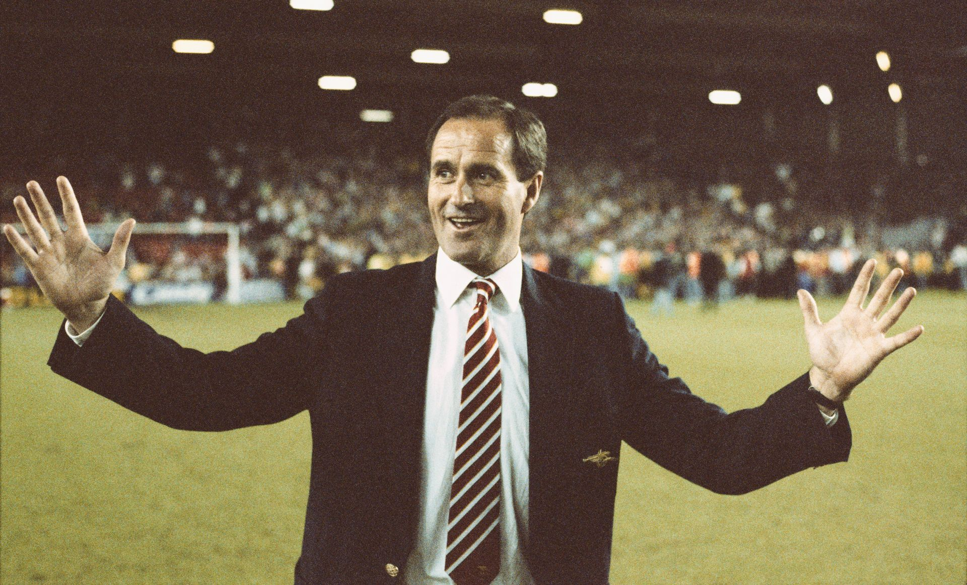 1989 г., Джордж Греъм обира аплодисментите след победата на Арсенал с 2:0 над Ливърпул в директния шампионски сблъсък