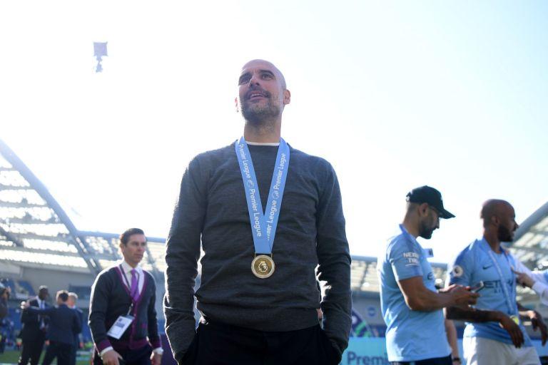 Шампион за втори път с Манчестър Сити, май 2019 г.