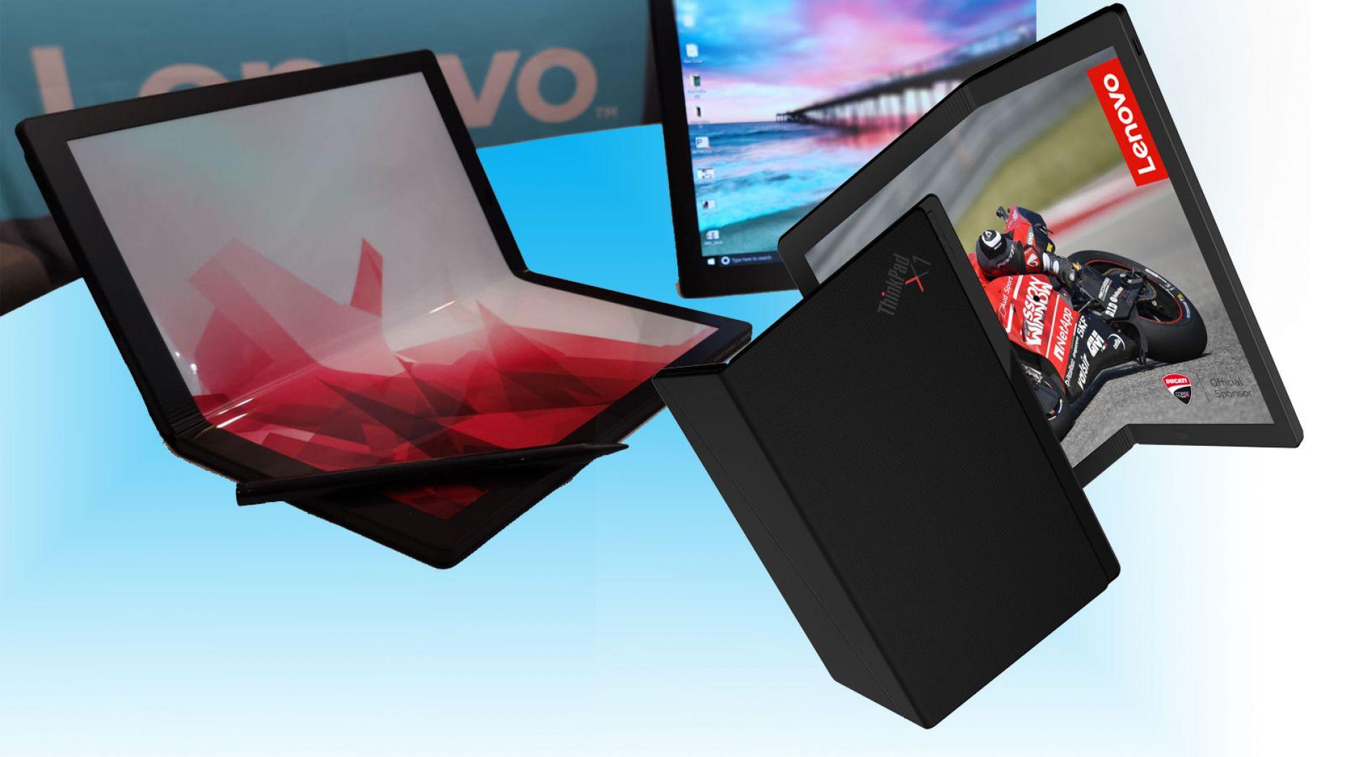 Lenovo демонстрира лаптоп със сгъваем дисплей