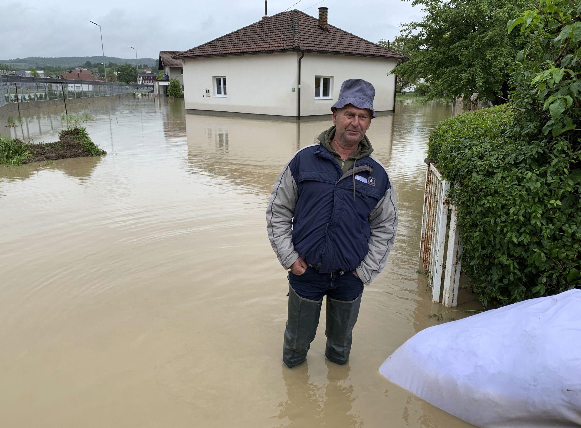Наводнения в района на град Баня Лука