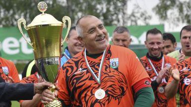 """Премиерът Борисов поведе """"тигрите"""" в шампионски мач срещу Лудогорец (снимки)"""