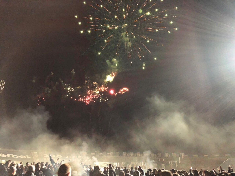"""Зарята на """"Лаута"""" след полунощ в сряда срещу четвъртък, в чест на славната победа"""