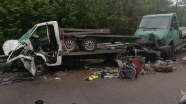 Две катастрофи блокираха международния път Е-79 (снимки)