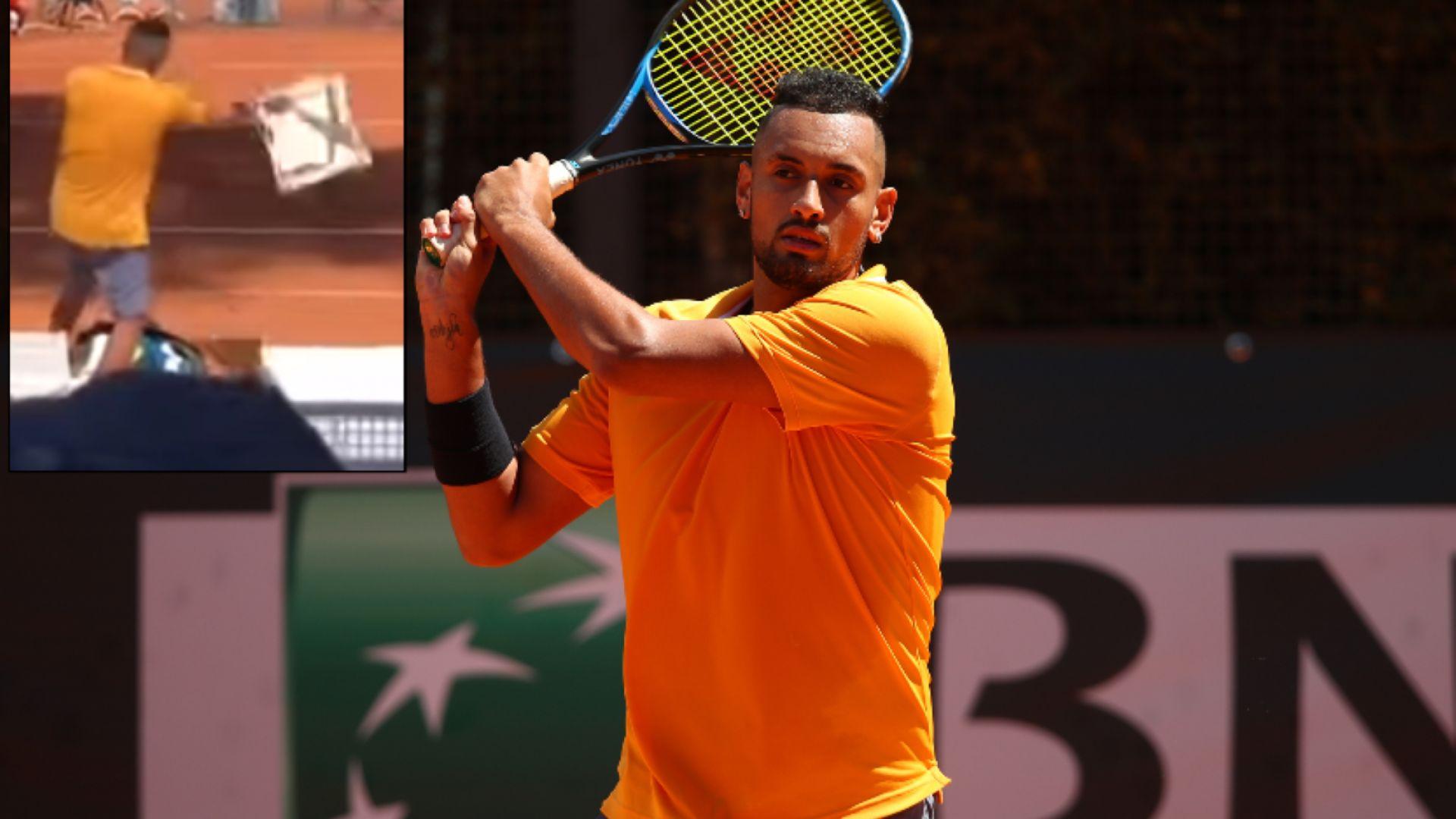 Федерер защити Кирьос: Той просто нарани един стол