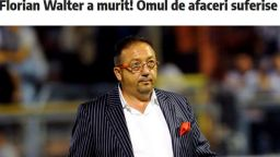 Почина румънският милионер Флориан Валтер, бивш акционер в няколко футболни отбора