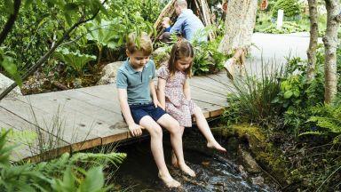Уилям и Катрин показаха нови снимки с трите деца сред природата