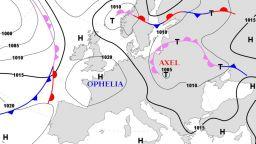 Циклонът Аксел носи порои, бури и наводнения в Източна Европа