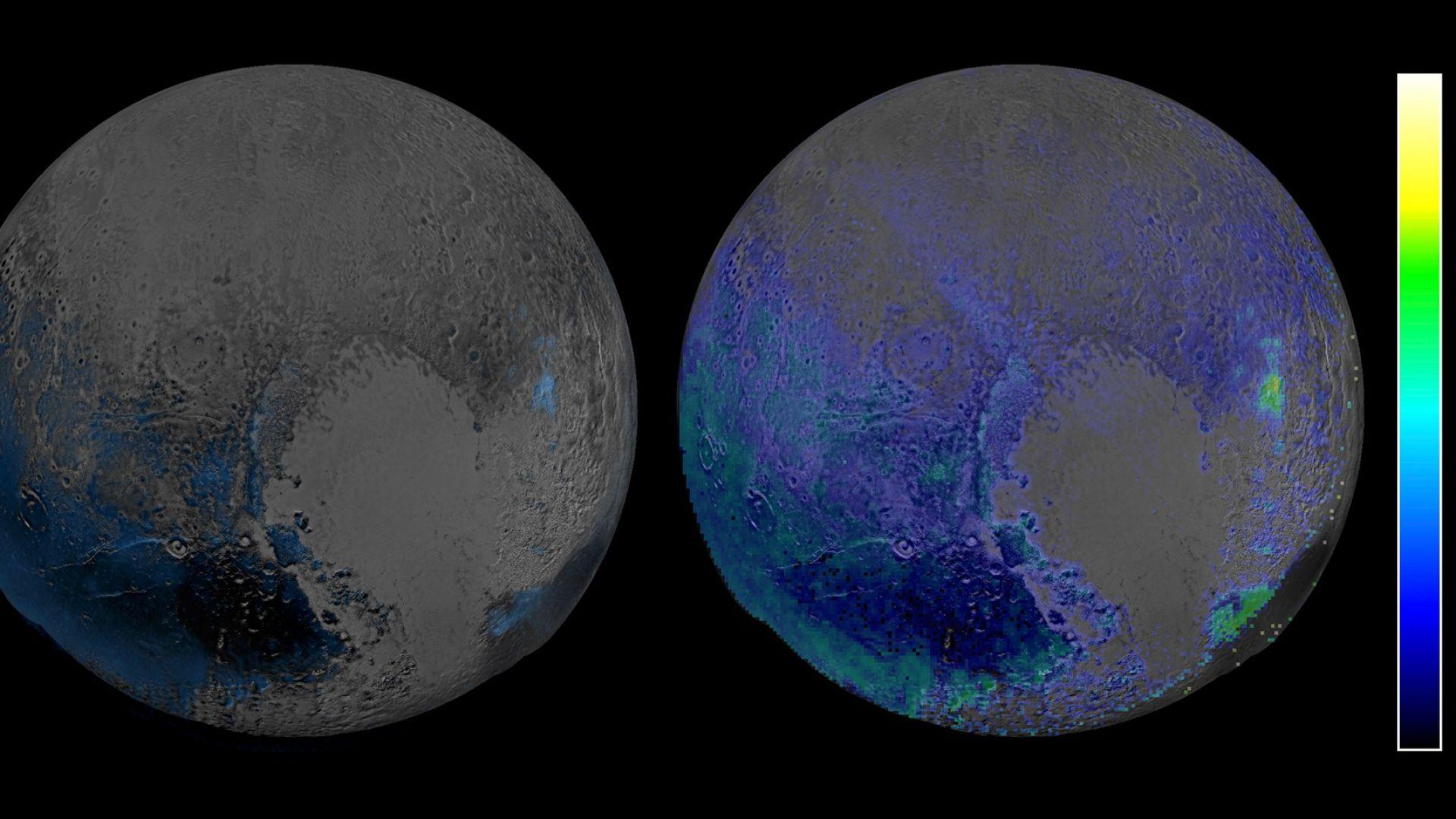Водният лед на Плутон