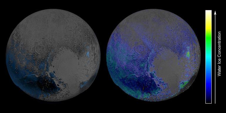 Заните с вода на Плутон