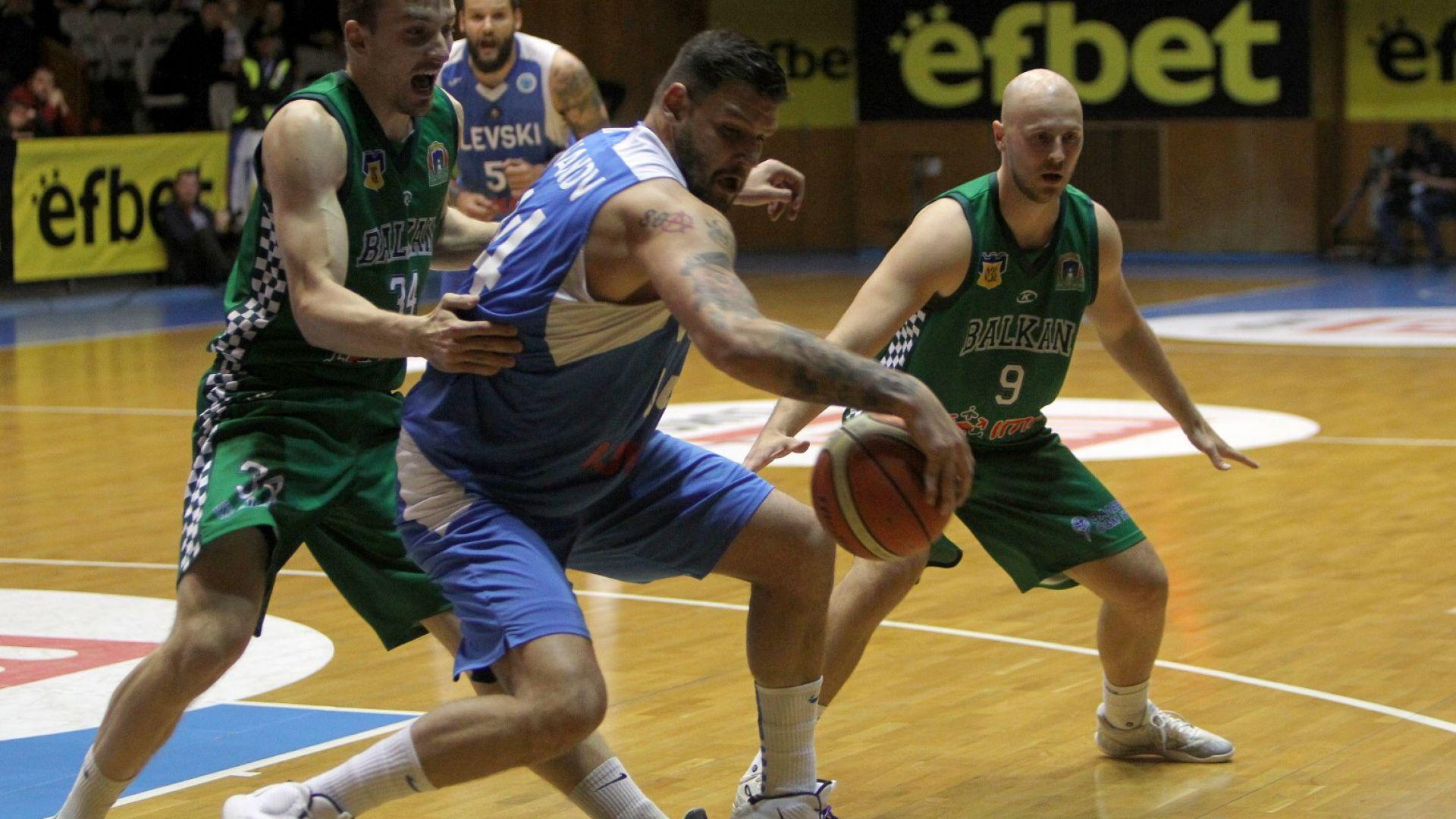 Левски Лукойл удари първи на баскетболния финал