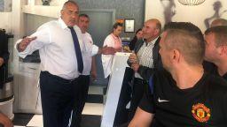 Борисов посрещна Ципрас в Кирково за пускане на газова връзка, вози го в колата си