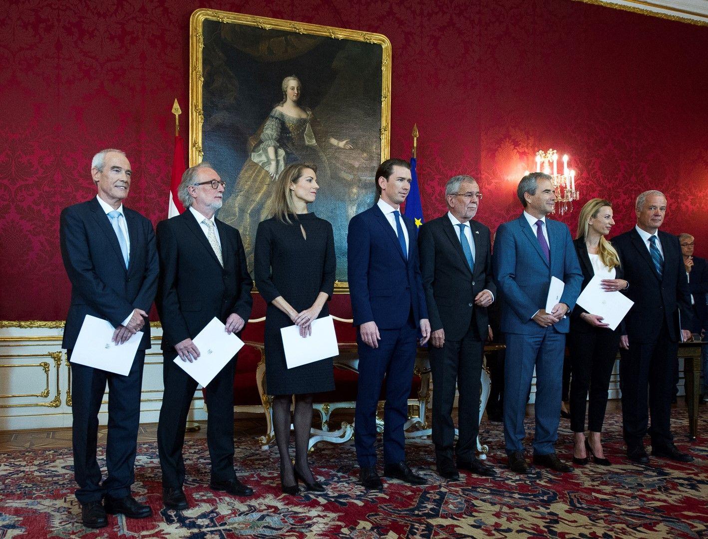 Новите министри в правителството на канцлера Себастиан Курц положиха клетва