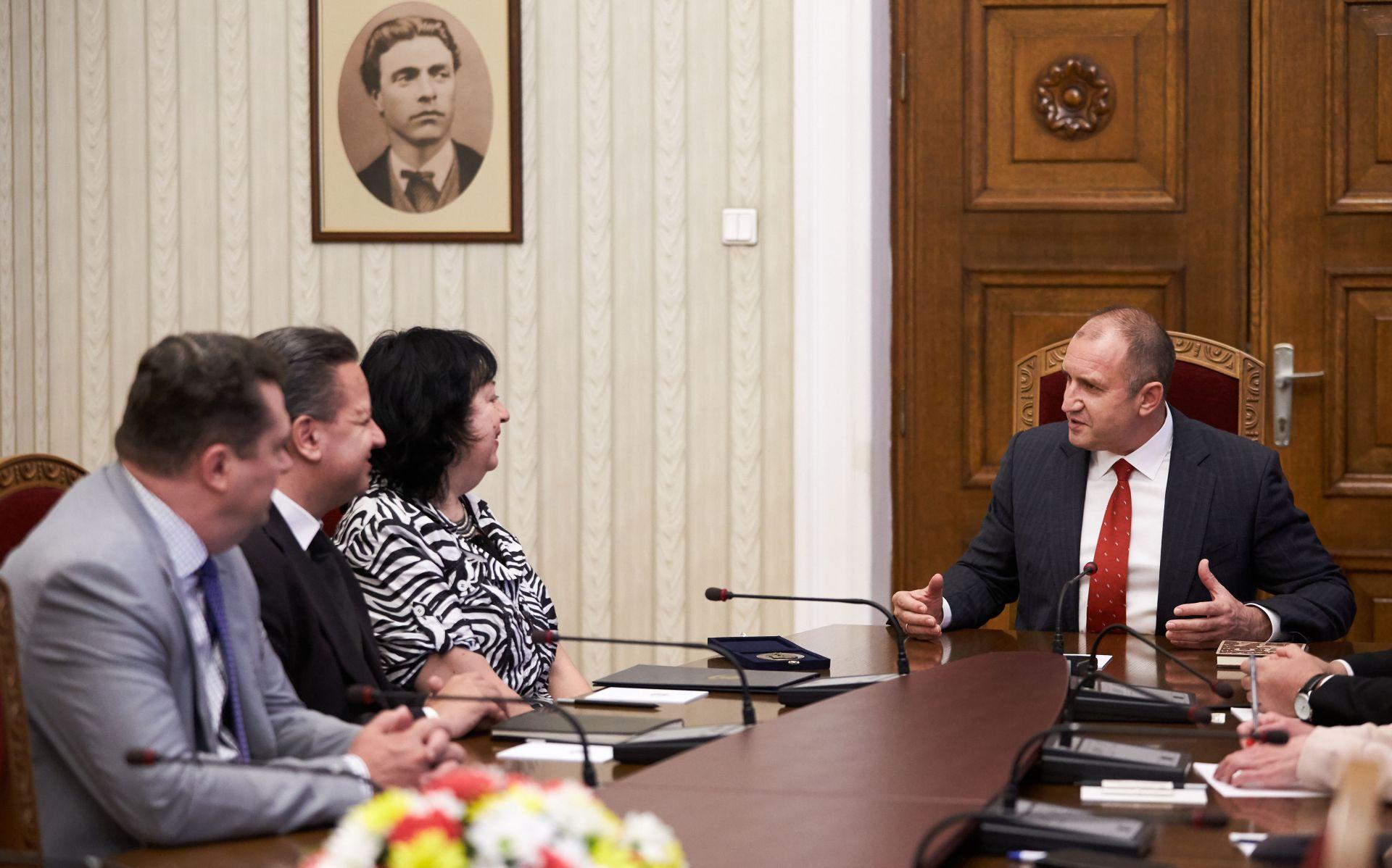 Представители на СБЖ, на среща с президента Румен Радев, по повод юбилейните годишнини /СНимка: Пресцентър на Президентството/