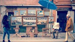 Творба на Банкси ли бе представена във Венеция?