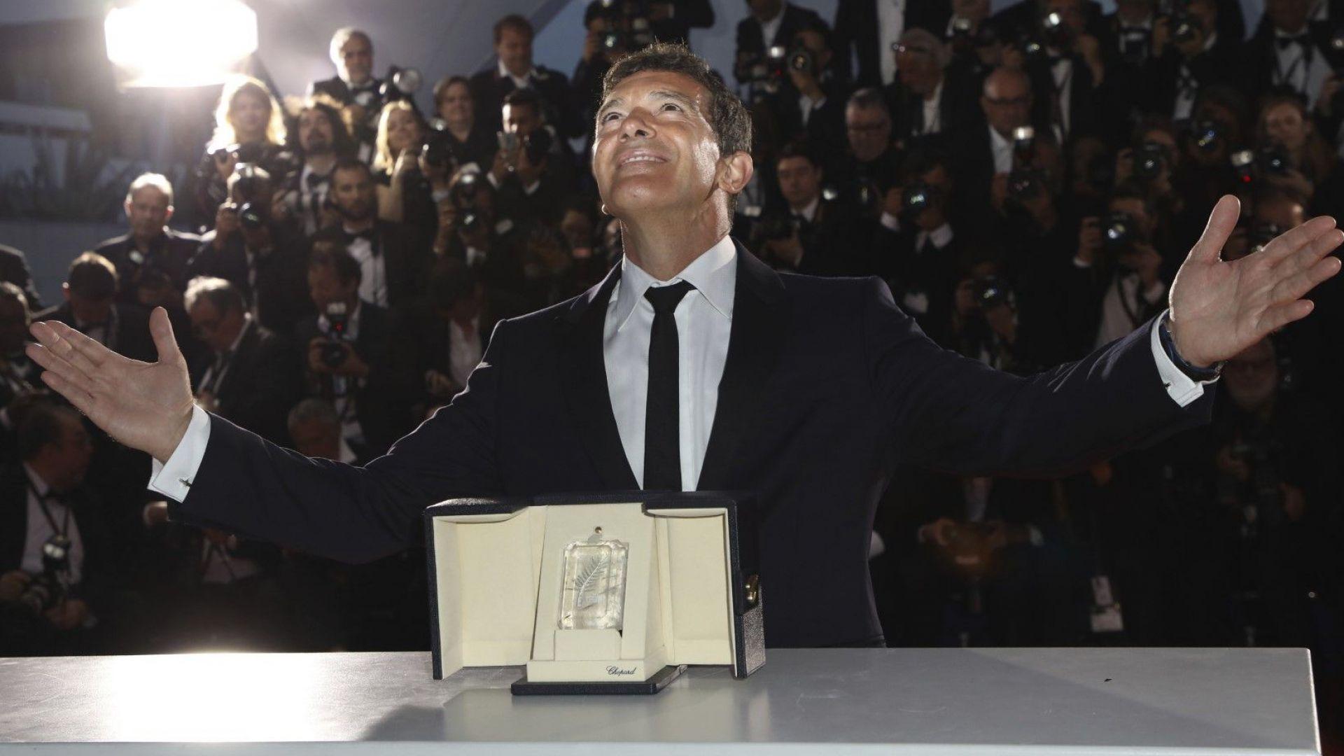 Антонио Бандерас с награда за най-добър актьор в Кан за филм на Алмодовар