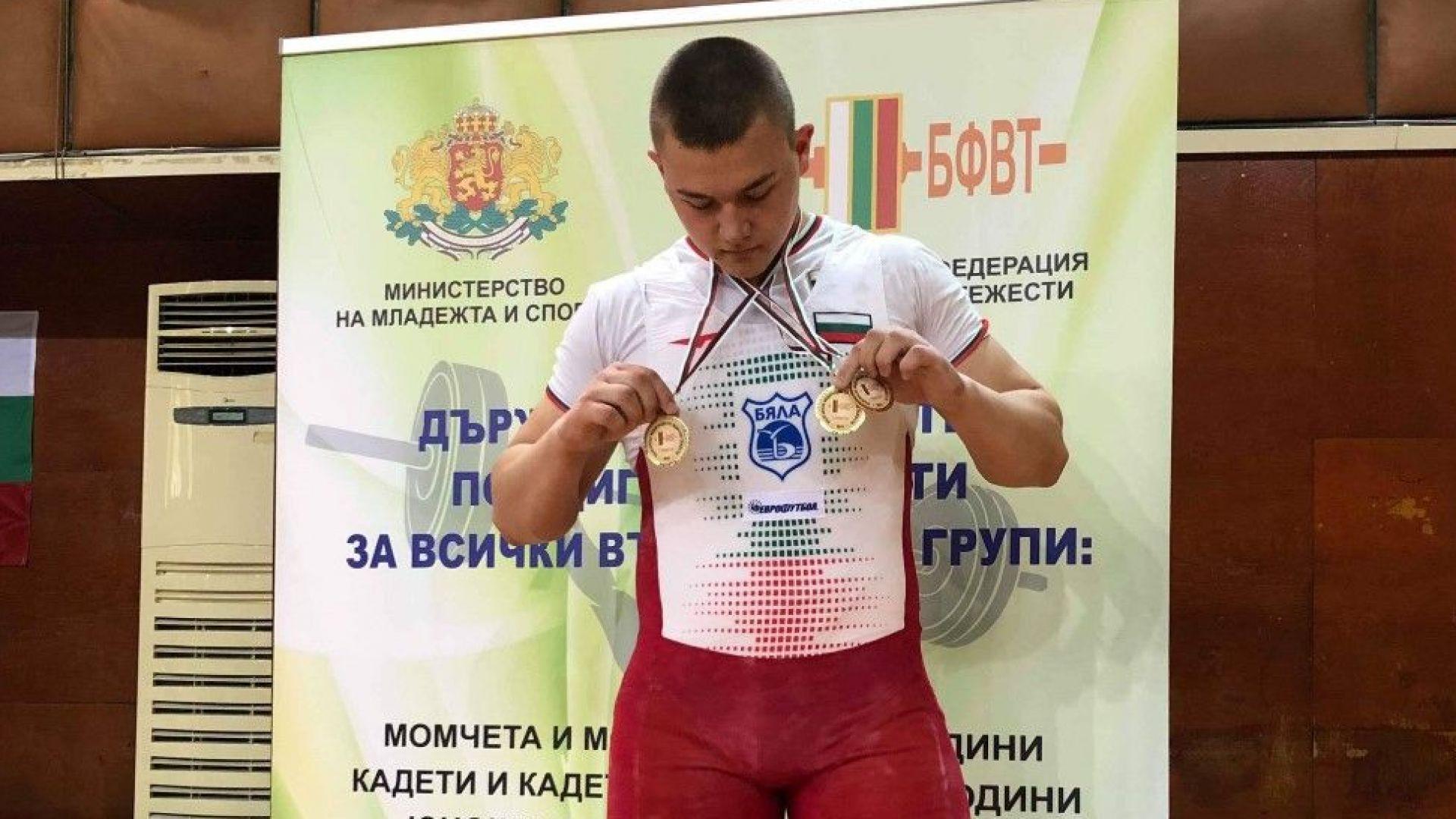 Стефчо Христов е републикански шампион по вдигане на тежести