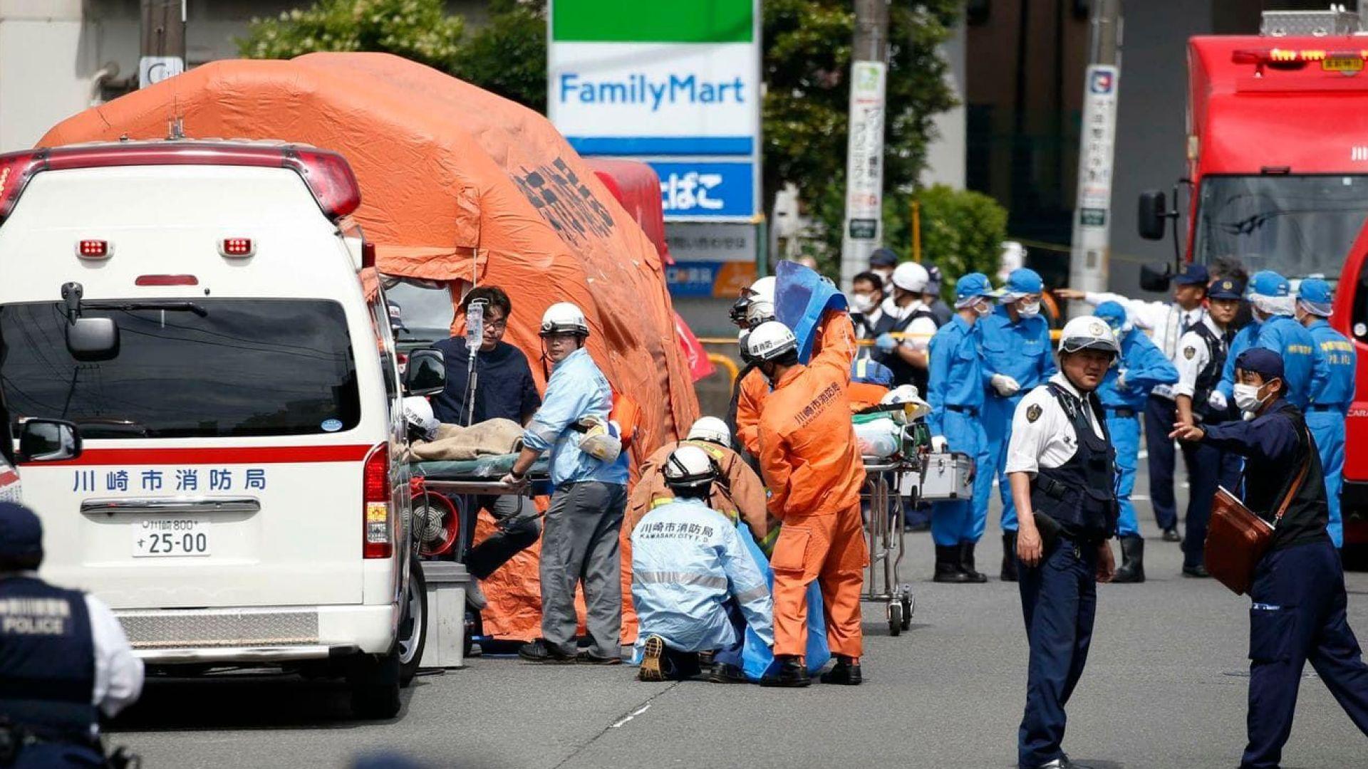 Трима убити и 19 ранени при нападение с нож в Кавазаки, агресорът също е мъртъв