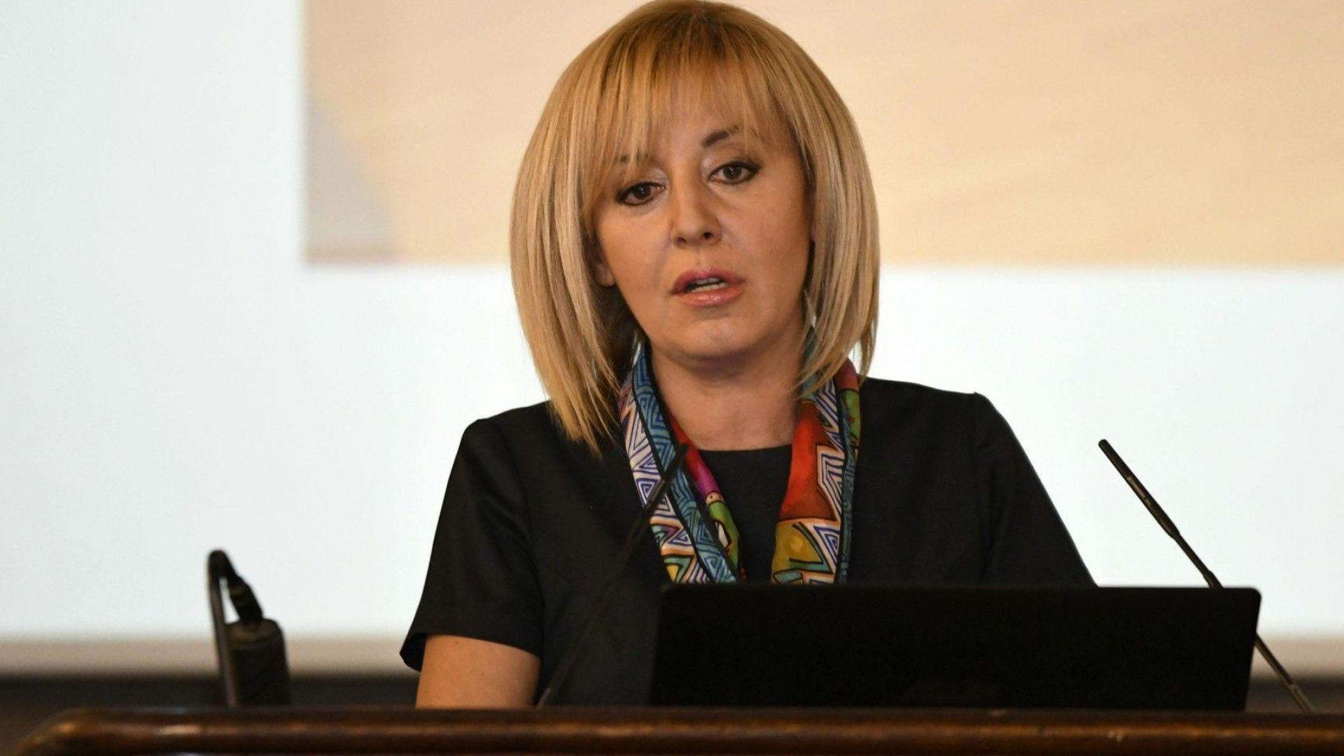 Мая Манолова: Нямам такова решение в момента - да се върна в партийната работа