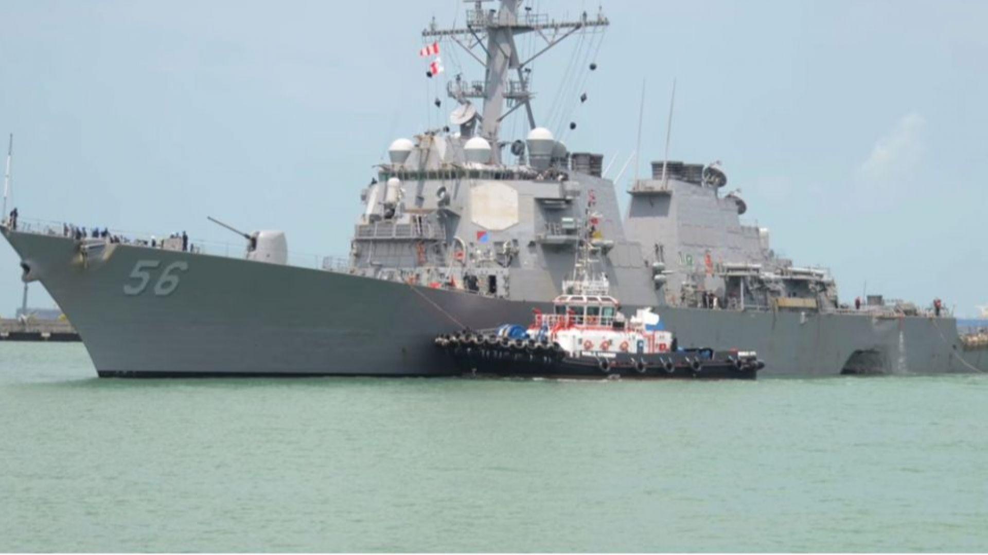 Белият дом е поискал американският кораб, който носи името на