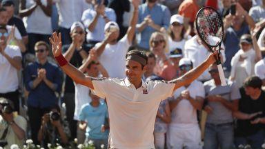 Федерер се помъчи, но отново не даде сет