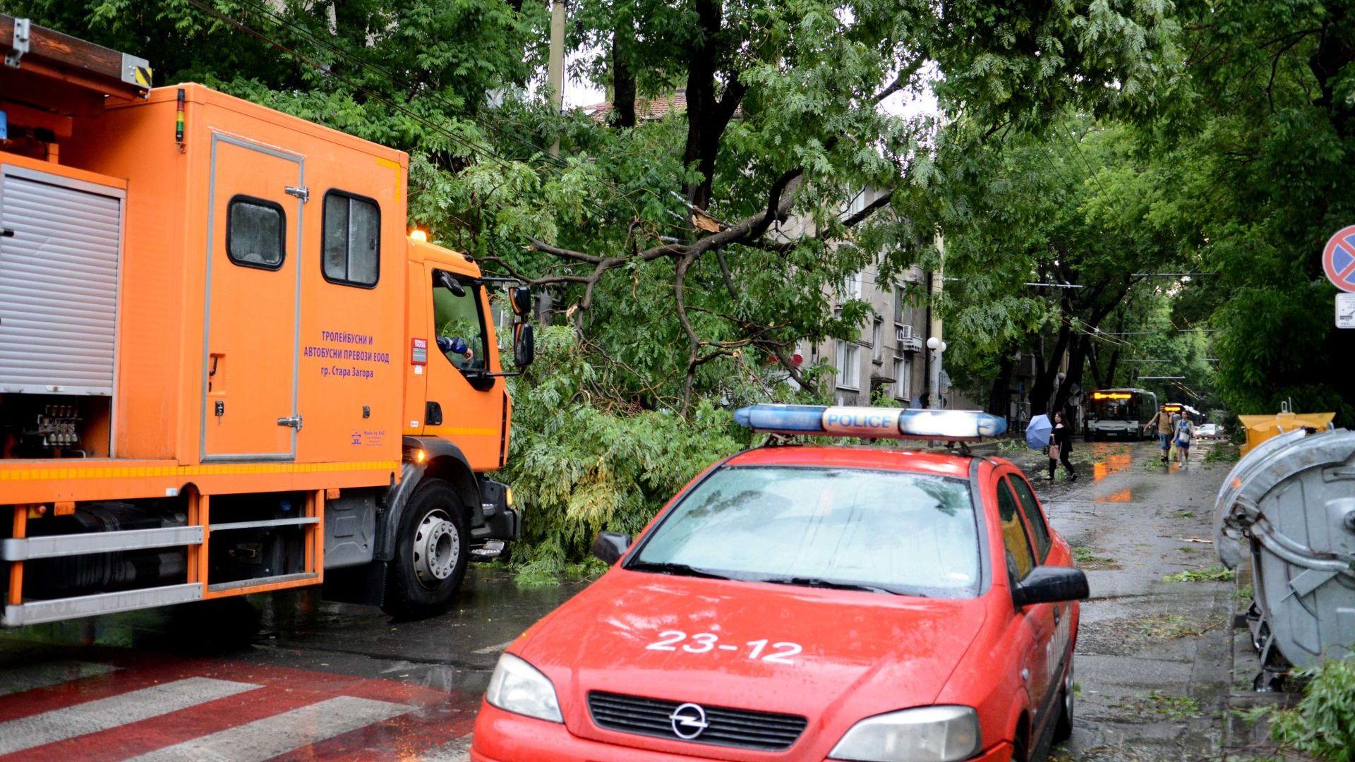Селища без ток, паднали дървета и непроходими булеварди - това