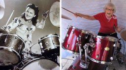 Първата жена барабанистка е на 106 години (видео)