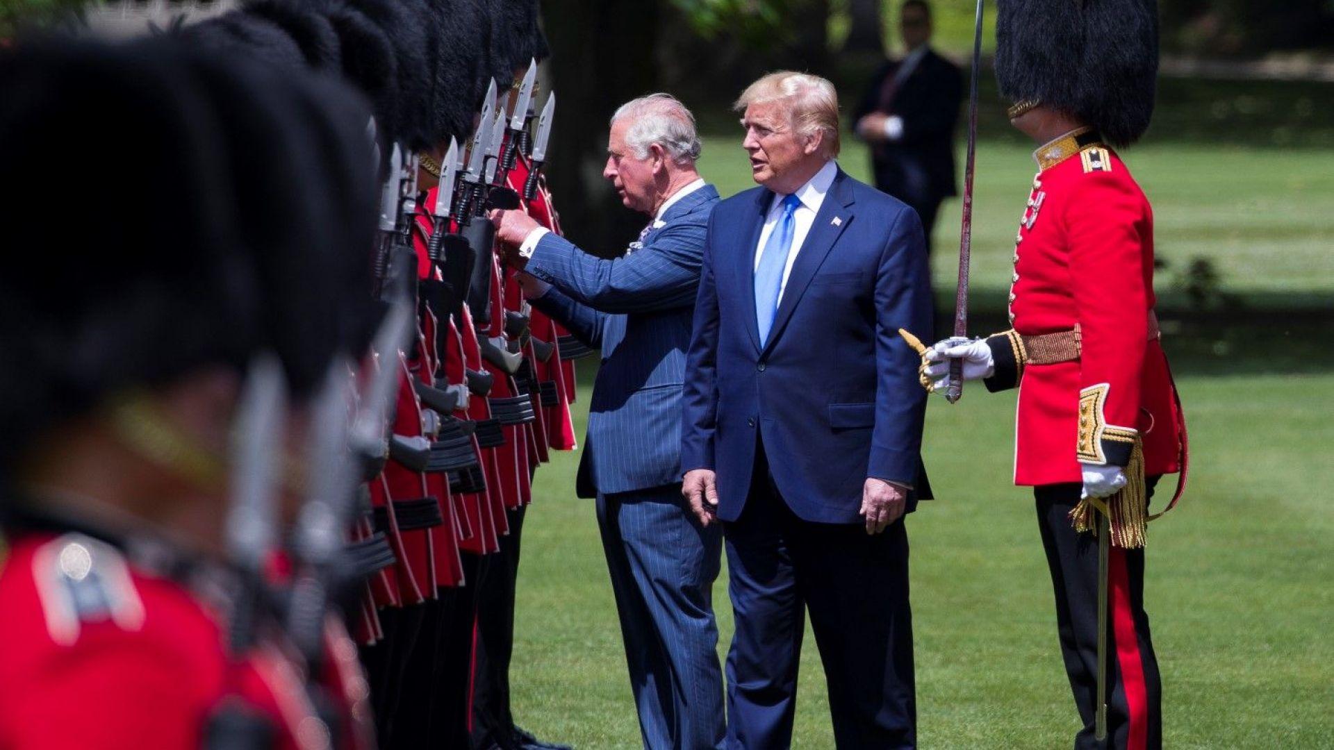 """Заради буквена грешка Тръмп """"прекръсти"""" принц Чарлз на """"принц на китовете"""""""