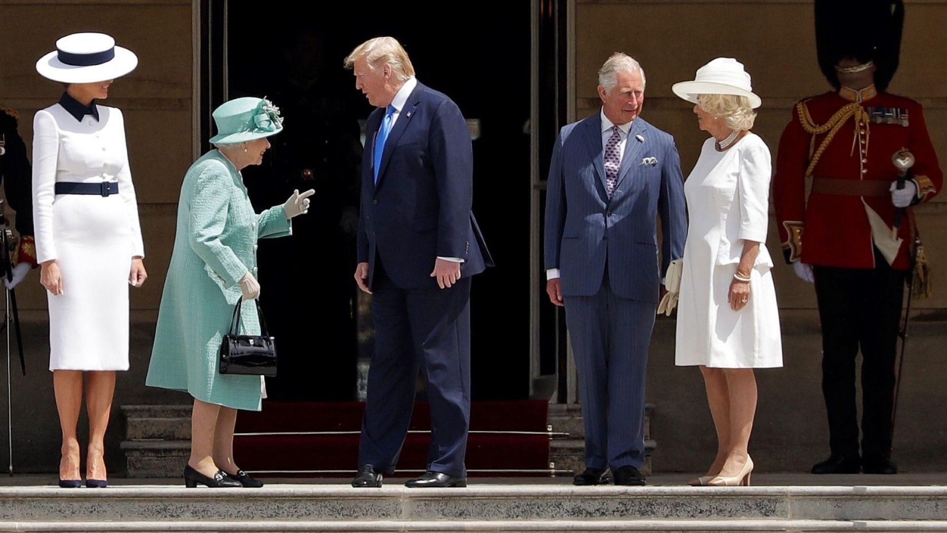 Тръмп и Мелания бяха посрещнати от кралица Елизабет Втора