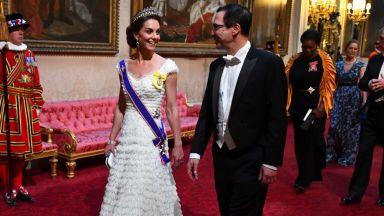 Кейт прие семейство Тръмп като истинска принцеса в Бъкингам