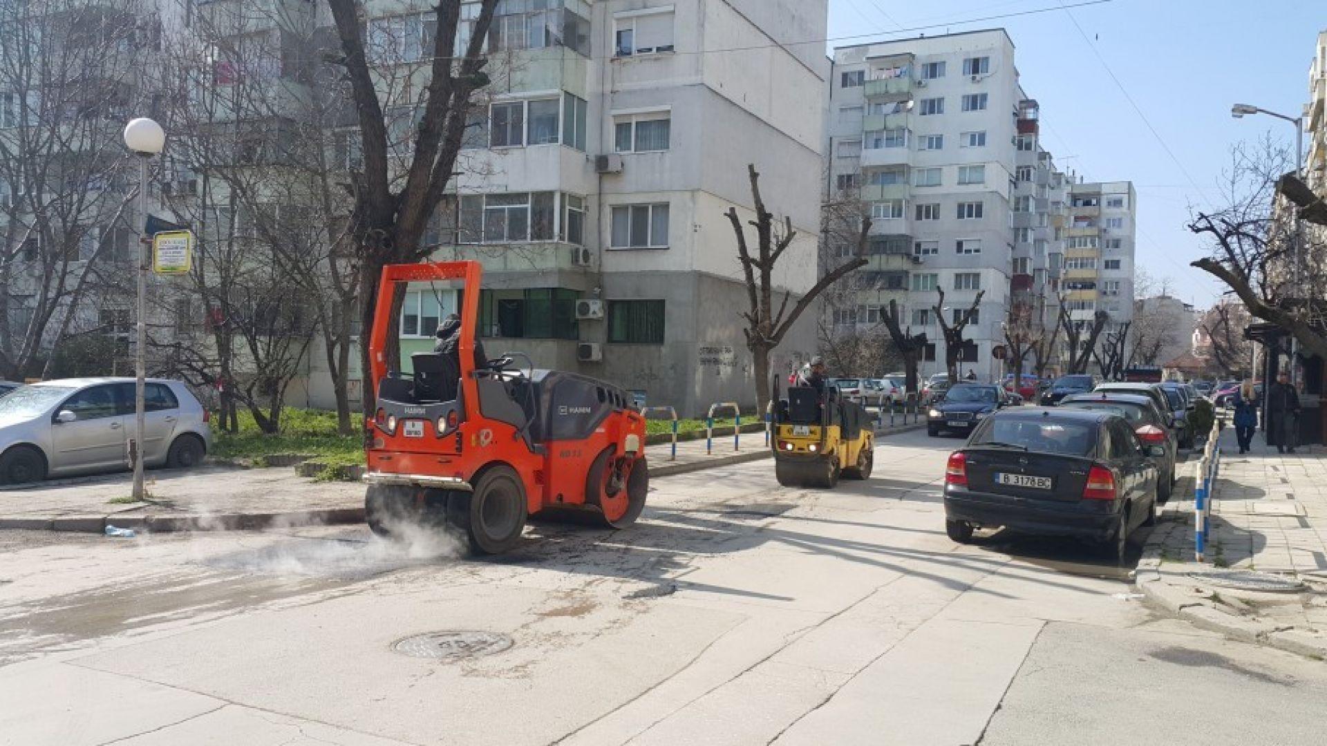 Започнаха ремонтите на малките улици във Варна