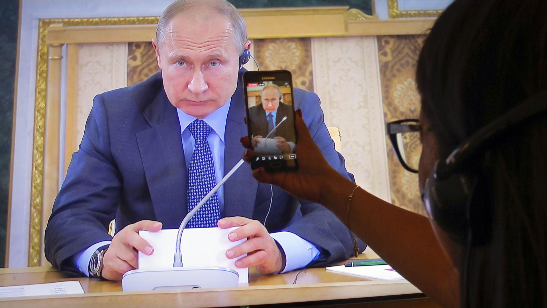 Президентът на Русия Владимир Путин предупреди днес, че има голям