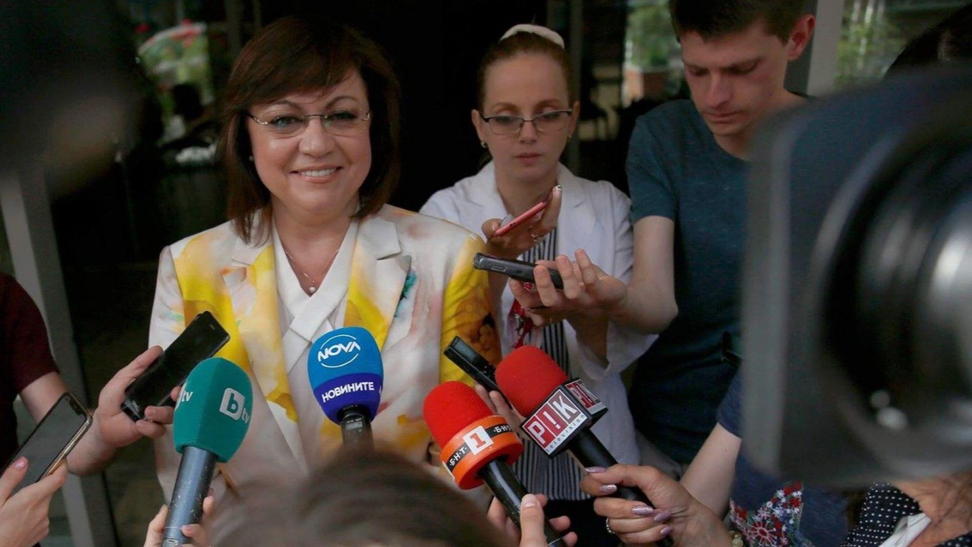 Нинова за евентуалното оттегляне на оставката: Не си падам по сценарии