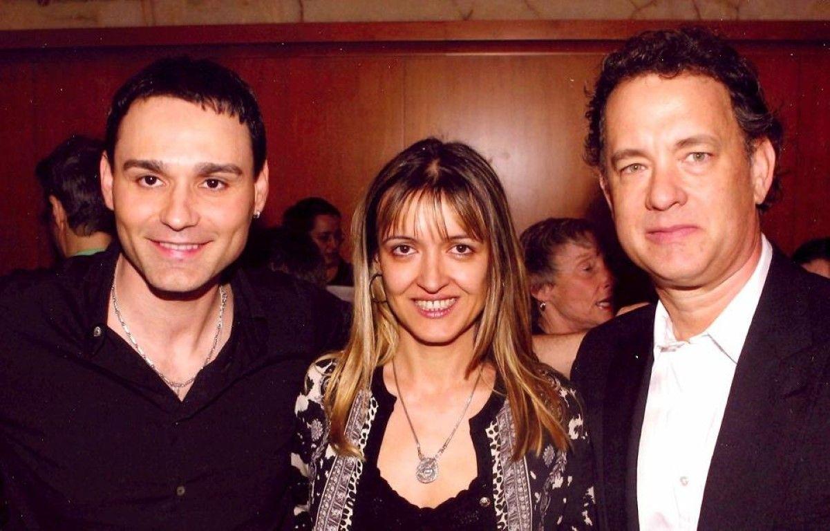 Краси Аврамов с мениджърката си Ирена Александрова и Том Ханкс