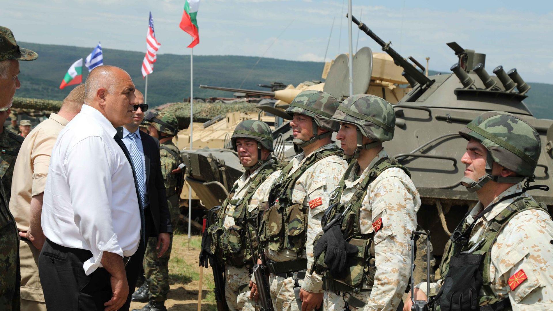 Премиерът Бойко Борисов наблюдава учението Ответен удар - 2019 г.