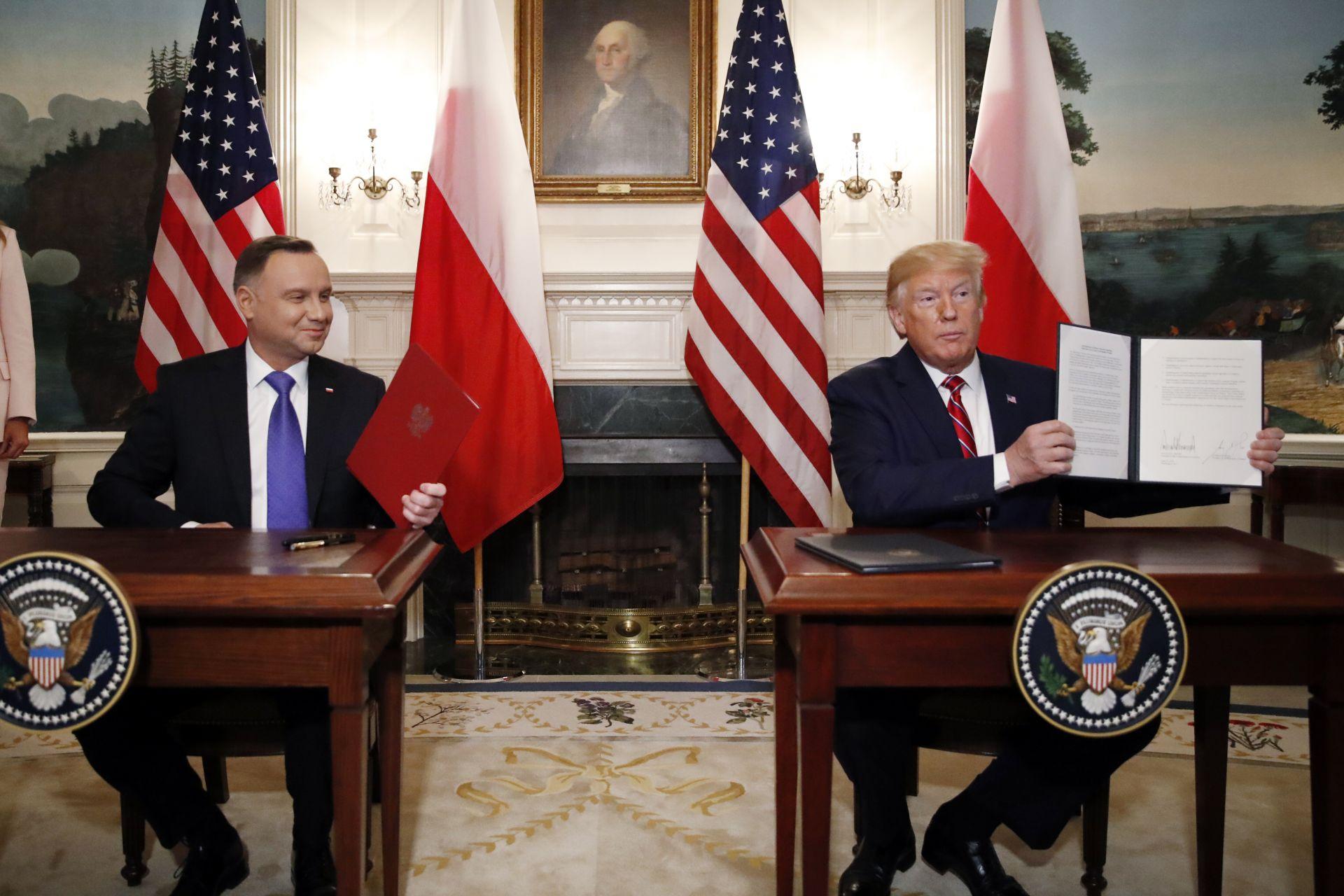 САЩ и Полша са подписали съвместна декларация за сътрудничество в сферата на отбраната