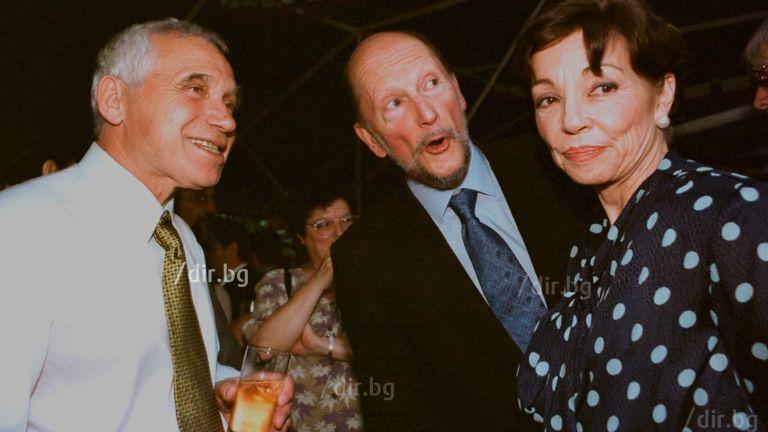 Жельо Желев, Симеон II, доня Маргарита във френското посолство на 14 юли 2001 г.