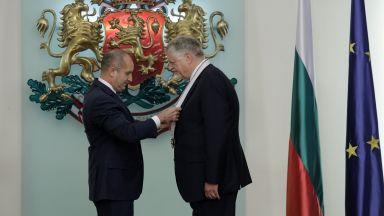 """Президентът удостои с орден """"Стара планина"""" и германския посланик"""