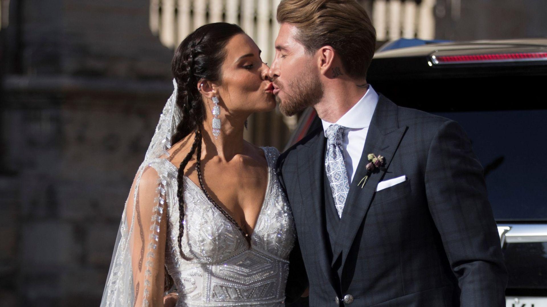 Вижте пищната сватба на Серхио Рамос и Пилар Рубио
