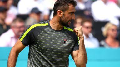 Шампионът Чилич тръгна с победа в Лондон