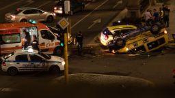 """Среднощна катастрофа между таксита на """"Орлов мост"""""""