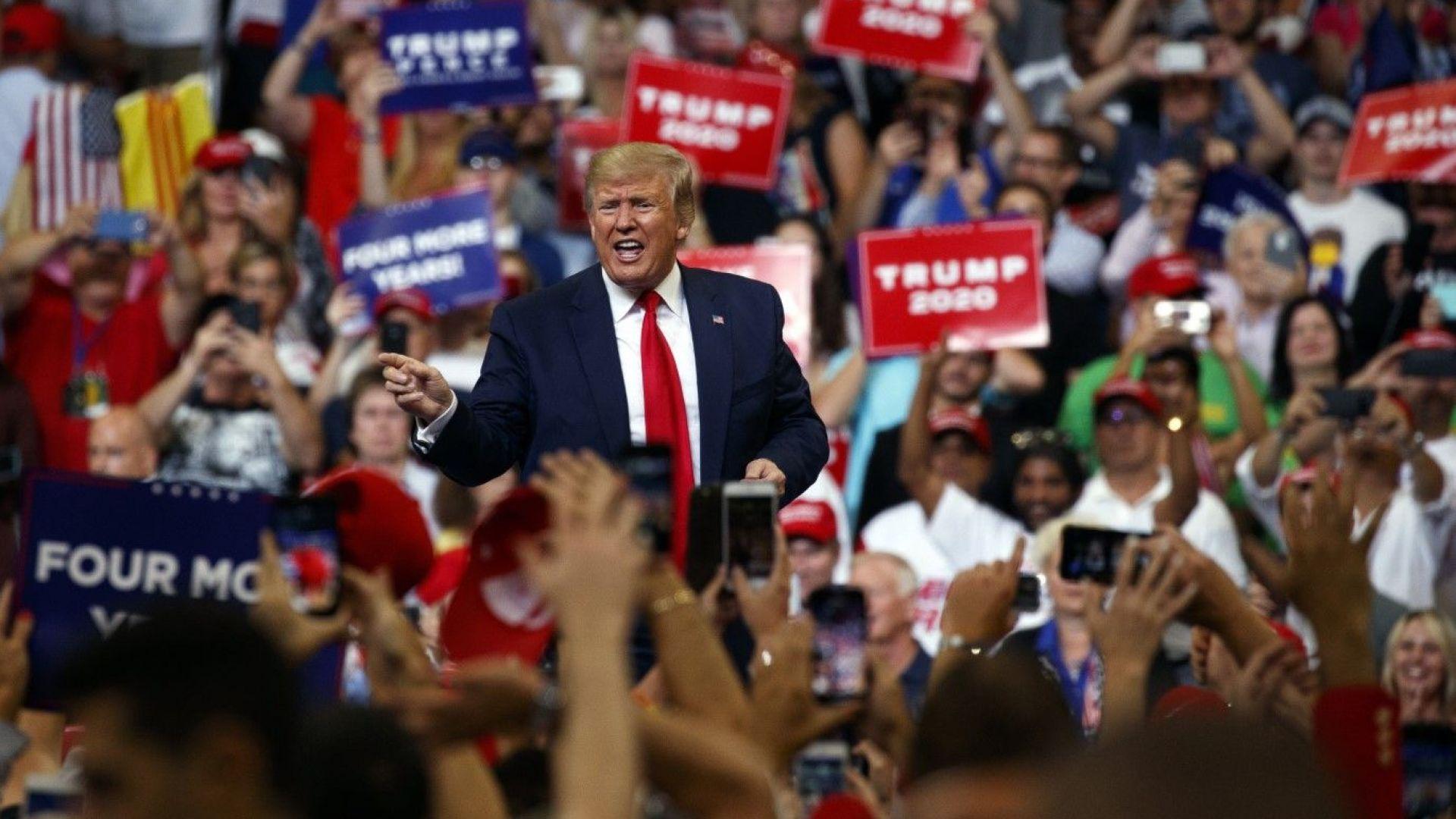 За ден Тръмп събра почти 25 млн. долара в кампанията за преизбирането си