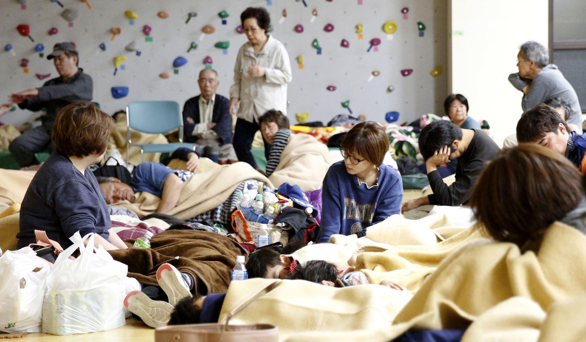 Повече от 1500 души бяха подслоненив евакуационните центрове в град Мураками и другаде в Ниигата