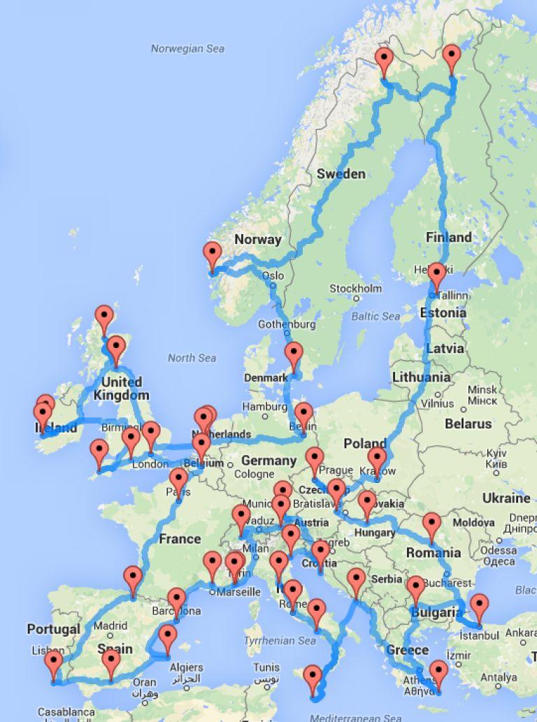 Uchen Izchisli Idealniya Marshrut Za Obikolka Na Evropa It Dir Bg