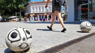 """""""Развеселиха"""" улични ограничители във Варна (снимки)"""