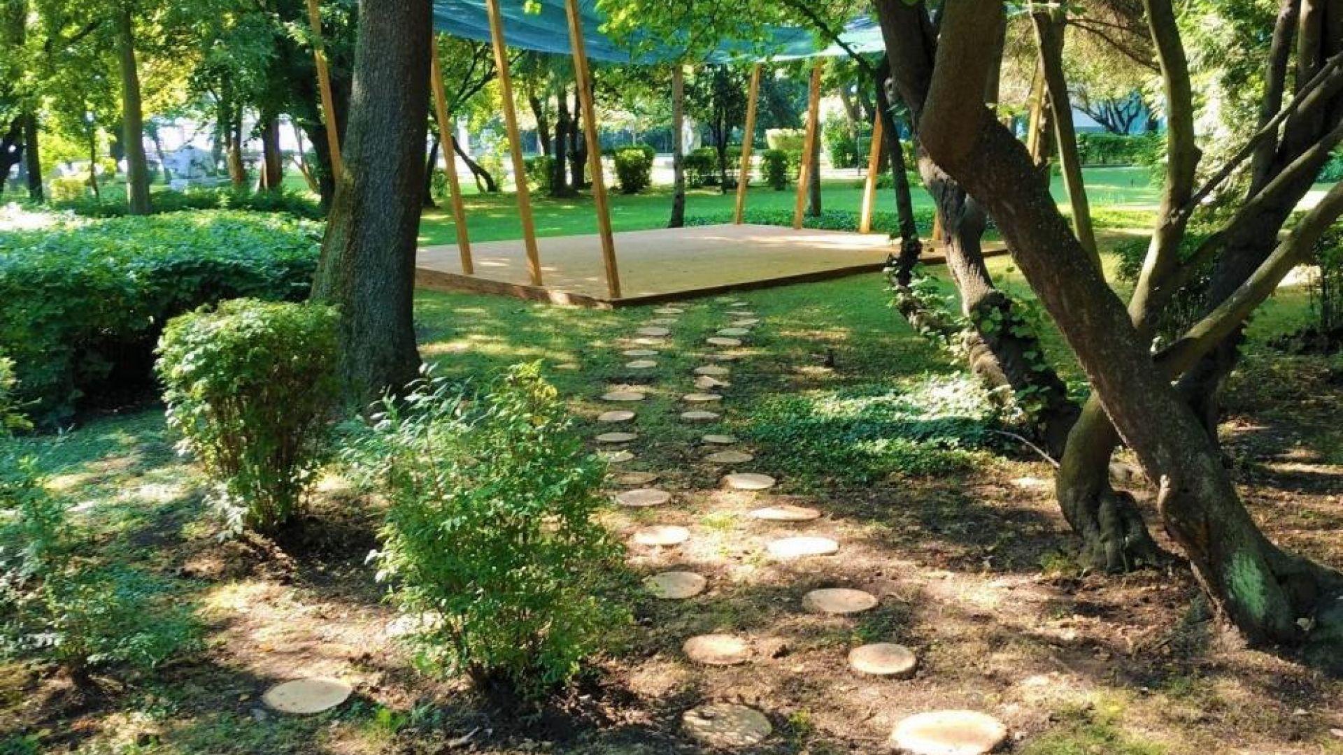 Направиха нов кът за йога в Морската градина в Бургас