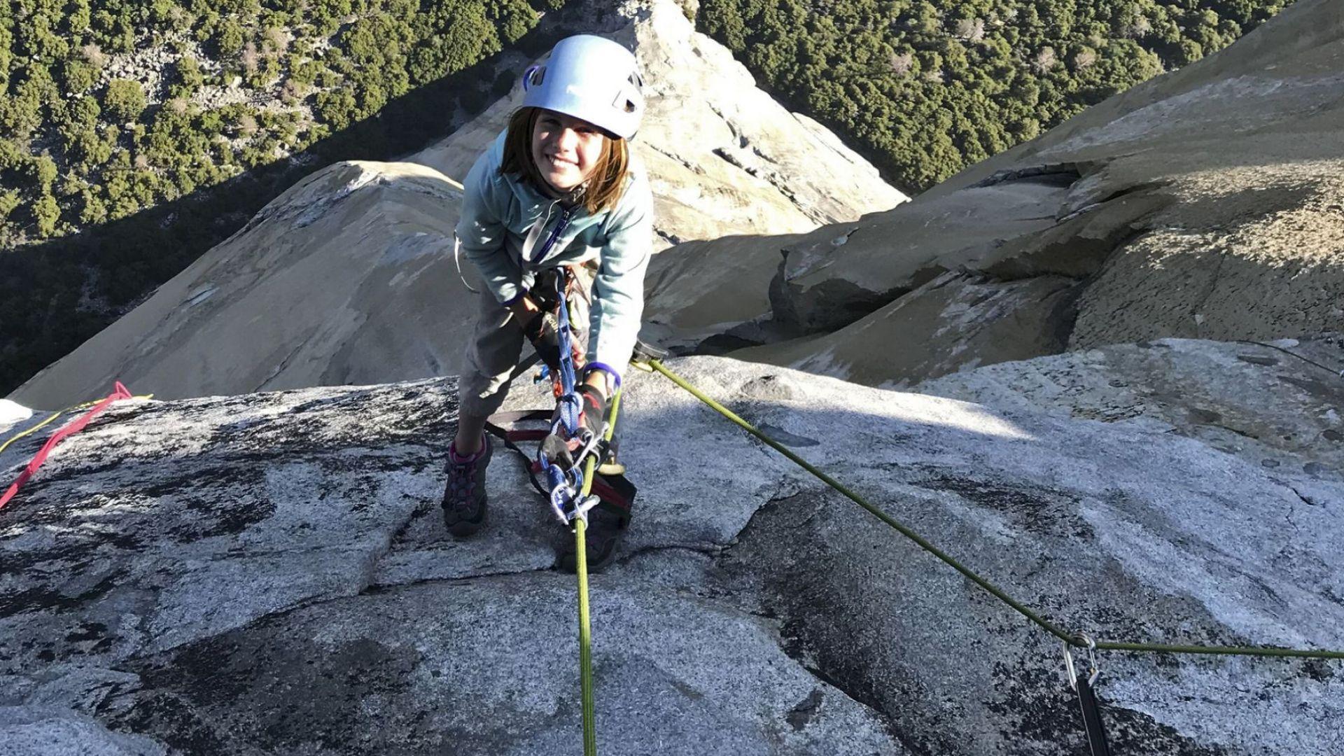 10-годишно американско момиче влезе в историята на катеренето, като покори