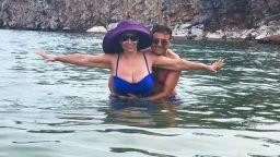 Катя и Здравко в кристалните води около Тасос